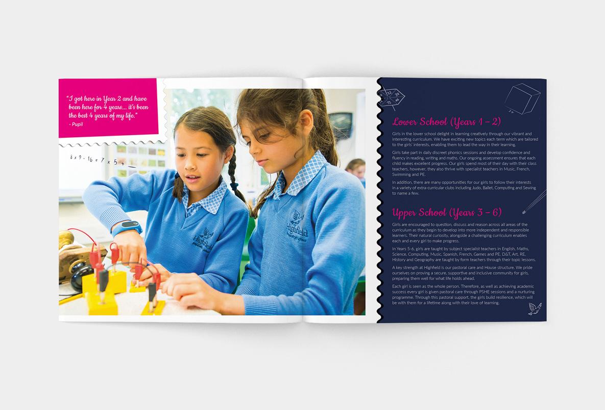 School printed prospectus