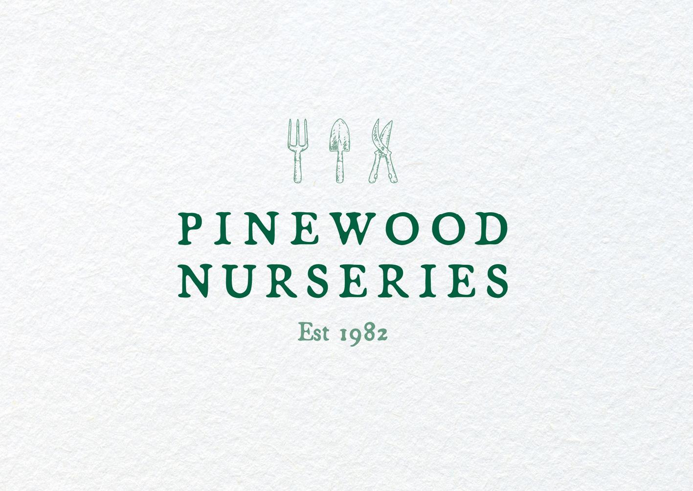 Pinewood Nurseries logo redesign